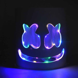 DJ Marshmallo LED Luminous Helmet Cosplay Props DIY Bar Music Party Marshmello  Helmet