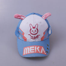 Load image into Gallery viewer, DVA Rabbit Ear Cute Baseball Cap Women Cartoon Printed Lady Hat Japanese Comic Hot Sale D.va Casual Fashion Cap Adjustable
