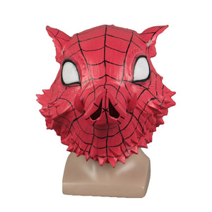 Demon Slayer  Spiderman Halloween Party Latex helmet Props