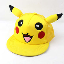 Load image into Gallery viewer, Anime Pikachu Pocket Monster Parent-Child Cap Hip Hop Hats