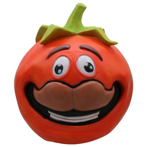 Halloween Cosplay Tomato Head helmet New Year Party Props latex helmet