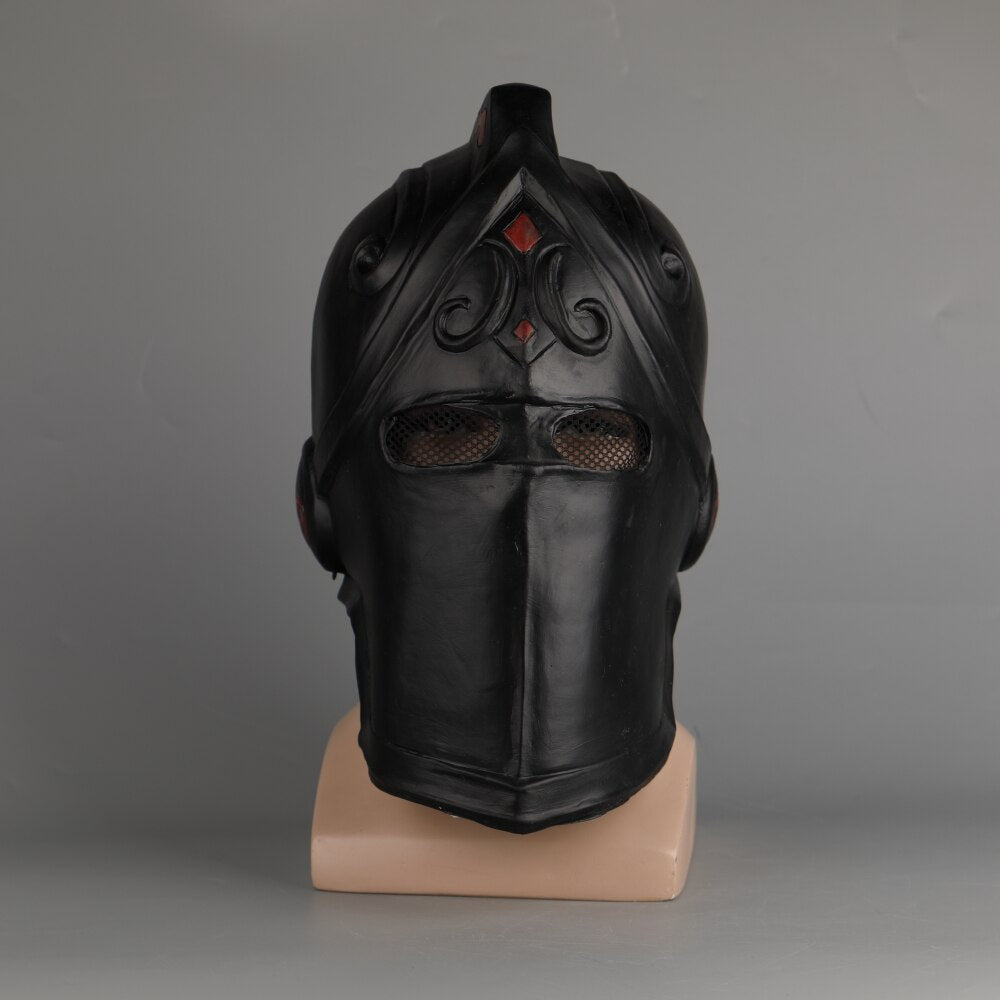 Game Fort helmet  Cosplay Black Knight Legend Orange Skin helmet Latex Halloween Party Prop