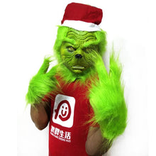 Load image into Gallery viewer, How The Grinch Stole Christmas  Helmet Cosplay Christmas Latex Helmet Gloves Prop