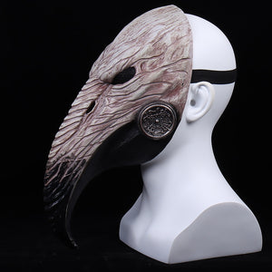 Halloween Latex Helmet Plague Doctor Cosplay Costume Props