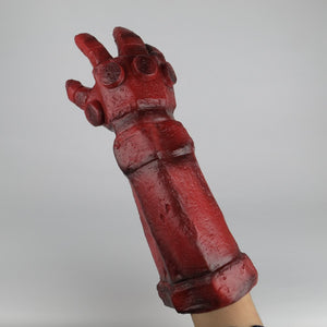 Hellboy: Rise of the Blood Queen Glove Right Hand Cosplay Gloves Accessories Armor Latex Hand Gauntlet Party Halloween
