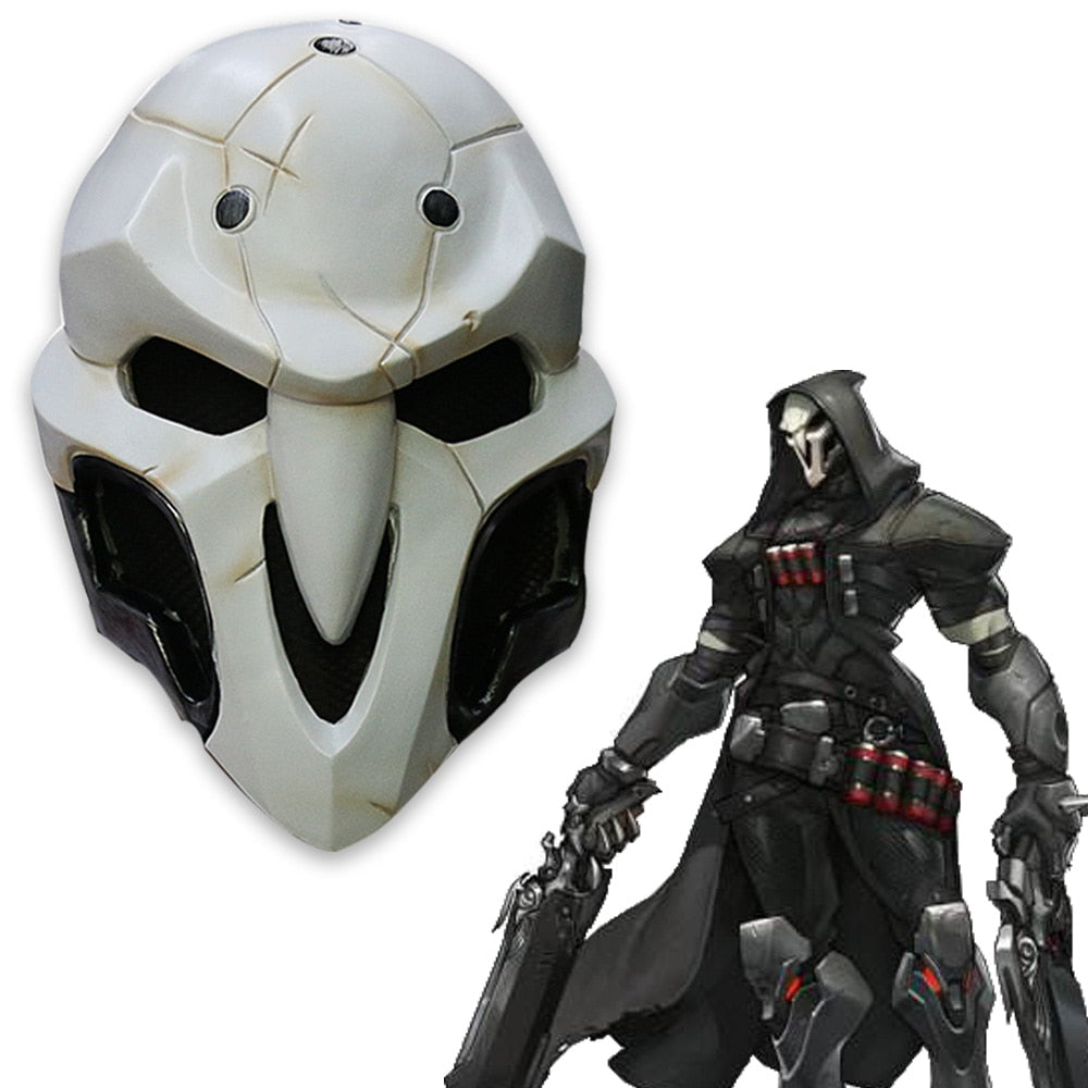 High Quality Game helmet PVC Cosplay Reaper  Helmet Halloween Reaper Party helmet