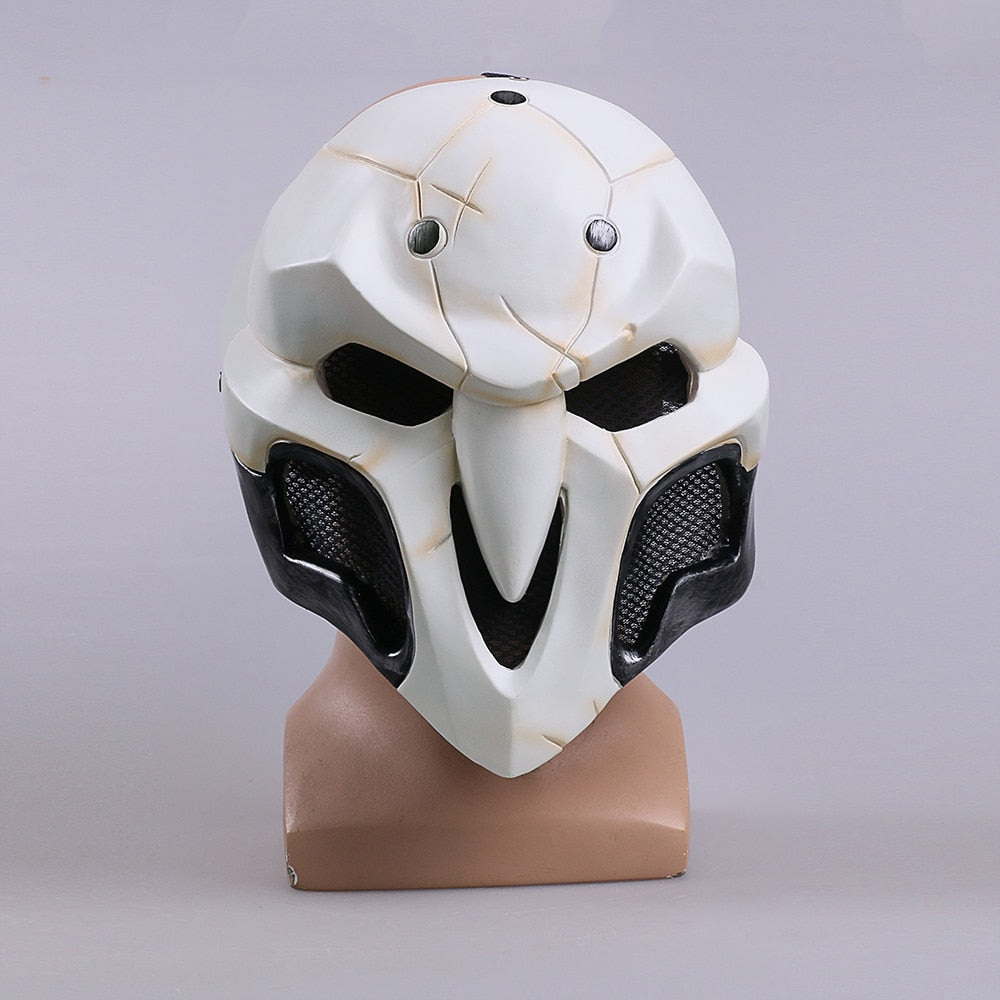 Over watch Game Cosplay Reaper Helmet Halloween Reaper Party Prop
