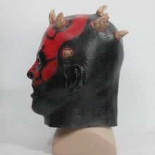 Load image into Gallery viewer, Latex Darth Maul helmet Star Wars Costume Halloween helmet Party