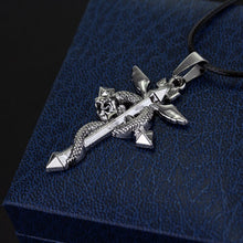 Load image into Gallery viewer, Anime Fullmetal Alchemist Metal Necklace Cross Snake Pendant Cosplay Accessories