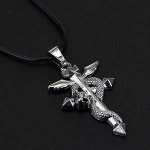 Anime Fullmetal Alchemist Metal Necklace Cross Snake Pendant Cosplay Accessories