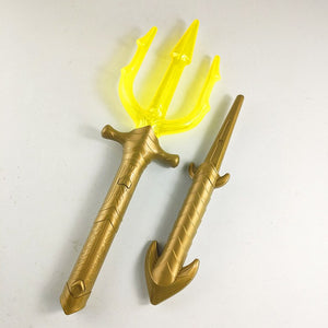 Movie Aquaman Arthur Curry/Orin Cosplay Child acousto-optic Trident LED Toy Prop