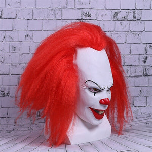 Movie Stephen King's  helmet Cosplay helmet Red Hair Clown Joker Halloween