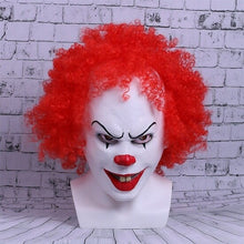 Load image into Gallery viewer, Movie Stephen King's  helmet Cosplay helmet Red Hair Clown Joker Halloween