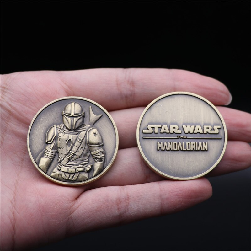Movies Star Wars The Rise of Skywalker Mandalorian Commemorative Coin Cosplay Christmas Halloween Prop