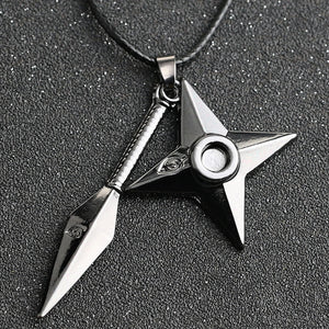 Anime Naruto Dart Weapon Necklace Cosplay Props
