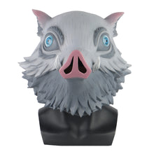 Load image into Gallery viewer, New Demon Slayer Cosplay  Wild Boar helmet Latex Halloween Party