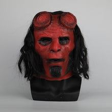 Load image into Gallery viewer, New Movie Hellboy: Rise of the Blood Queen helmet Ox Horn  Right Hand Cosplay Gloves Armor Latex Hand Gauntlet Party Halloween