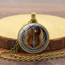 Load image into Gallery viewer, Star Wars Necklace Jedi Order Pendant Necklaces