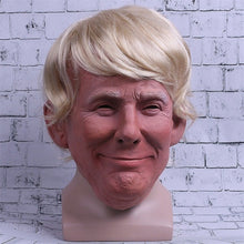 Load image into Gallery viewer, President Trump helmet Realistic Adults Halloween Deluxe Latex Full Head Donald Trump helmet with Hair