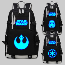 Load image into Gallery viewer, Star Wars Cosplay backpack School Bags USB Charging Port noctilucence backpack