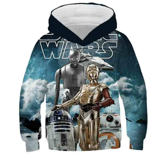 Movie Star Wars children's Costume Cosplay Hoodies