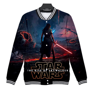 Movie Star Wars Skywalker rises Cosplay baseball uniform Coat