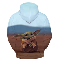 Load image into Gallery viewer, Star Wars The Mandalorian Baby Yoda Cosplay Costumes Hoodie
