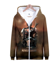 Load image into Gallery viewer, Star Wars  Mandalorian Adult Child Costume Cosplay 3D digital printing  zipper Hoodie