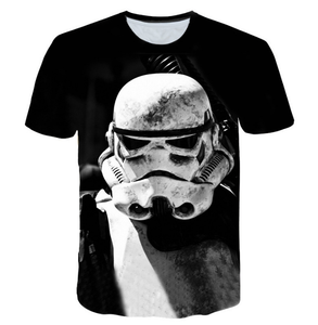 Movie  Star War 3 d printing T-shirt