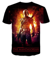Load image into Gallery viewer, Movie  Star War mandalorian 3 d printing Short-Sleeve T-Shirt