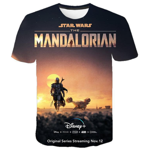 Movie  Star War mandalorian T-shirt 3 d printing Leisure  fashion T-shirt