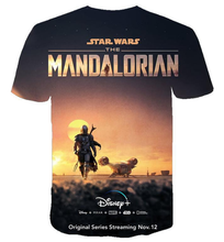 Load image into Gallery viewer, Movie  Star War mandalorian T-shirt 3 d printing Leisure  fashion T-shirt