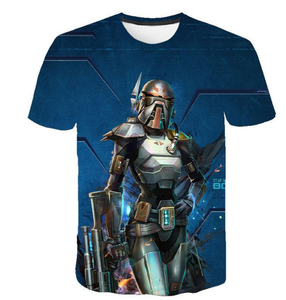 Star War mandalorian T-shirt 3 d printing Short-Sleeve T-Shirt
