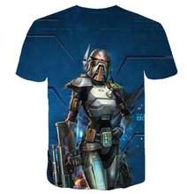 Load image into Gallery viewer, Star War mandalorian T-shirt 3 d printing Short-Sleeve T-Shirt