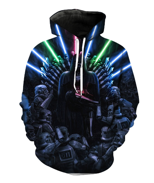 Stars Wars The Force Luke Skywalker Jedi Darth Vader 3D digital printing clothing Cosplay Hoodie
