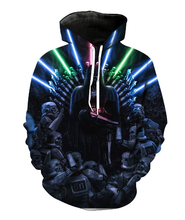 Load image into Gallery viewer, Stars Wars The Force Luke Skywalker Jedi Darth Vader 3D digital printing clothing Cosplay Hoodie