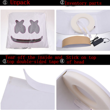 Load image into Gallery viewer, DJ Marshmallo LED Luminous Helmet Cosplay Props DIY Bar Music Party Marshmello  Helmet