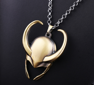 thor 2 the dark world necklace Loki helmet pendant Cosplay Props