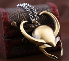 Load image into Gallery viewer, thor 2 the dark world necklace Loki helmet pendant Cosplay Props