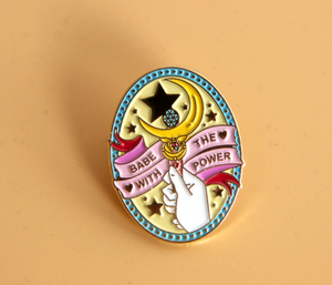 Anime Sailor Moon Stick Enamel Pin Flowers Brooch Cosplay Costumes Accessories