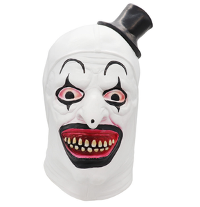Cosplay Funny Evil Clown Hat Latex Helmet Halloween Party Costume Props
