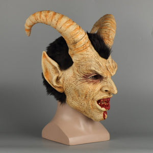 Scary helmet demon devil Lucifer Horn latex  Halloween movie cosplay decoration Festival Party  props