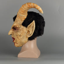 Load image into Gallery viewer, Scary helmet demon devil Lucifer Horn latex  Halloween movie cosplay decoration Festival Party  props