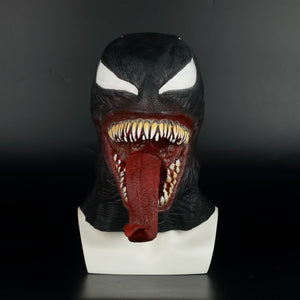 Spider-Man The Venom helmet Cosplay Spider Man Edward Brock Dark Superhero Venom Latex helmet Helmet Halloween Party Props