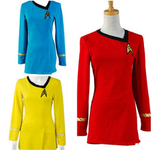 Load image into Gallery viewer, Star Trek Uniform Blue Yellow Red Women Outfit Cosplay Halloween Dress