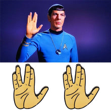 Load image into Gallery viewer, Star Trek Spock Hand Enamel Brooch Pins Badge Cosplay Accessories Gifts