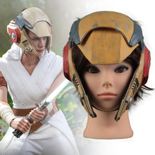 Load image into Gallery viewer, Star Wars 9 The Rise of Skywalker Rey Latex Helmet Cosplay Masquerade Props