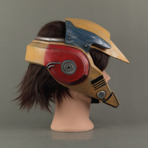 Star Wars 9 The Rise of Skywalker Rey Latex Helmet Cosplay Masquerade Props