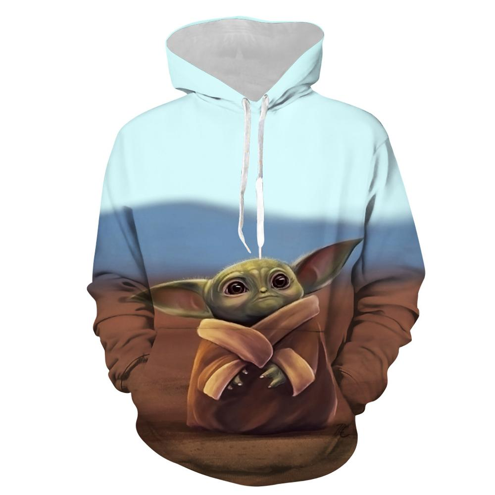 Star Wars The Mandalorian Baby Yoda Cosplay Costumes Hoodie