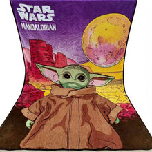 Load image into Gallery viewer, Star Wars Yoda  coral fleece Blanket 157x229cm Girls Boys Birthday Gift